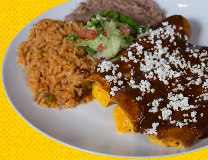 Taco Palenque Plates and Enchiladas